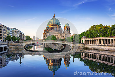 Berlin Cathedral at dawn, Germany Stock Photo