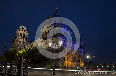Berlin Cathedrale at night