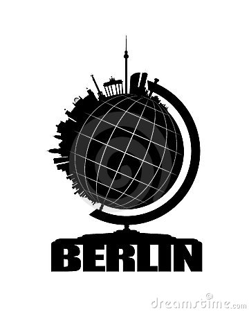 Berlin City on a Globe