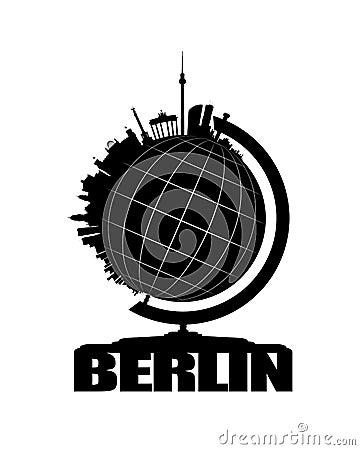 Berlin City on a Globe