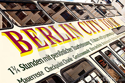 Berlin city tour bus Editorial Stock Image