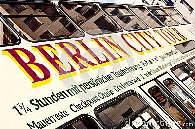 Berlin city tour bus Editorial Stock Image