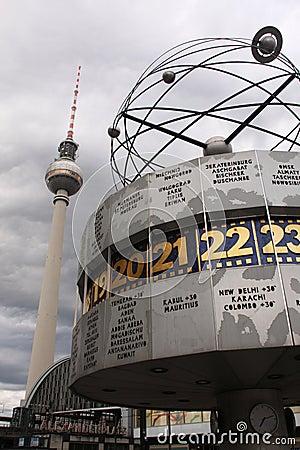 Berlin clock Editorial Photography