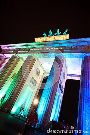 Berlin, Festival of Lights Editorial Stock Photo