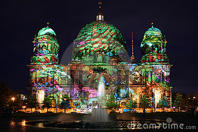 Berlin Festival of Lights Editorial Photography