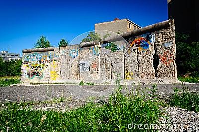 Berlin fragmentvägg Redaktionell Bild