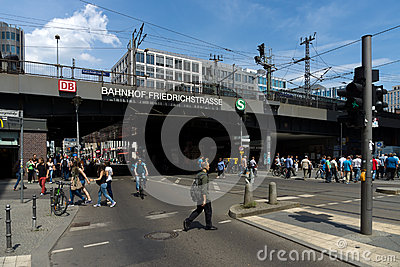 Berlin Friedrichstrasse railway station Editorial Photo
