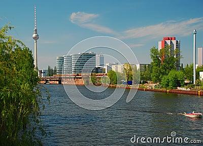 Berlin, Germany, City centre and Spree river