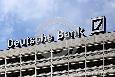 Berlin, Germany. The Deutsche Bank logotype Editorial Stock Image