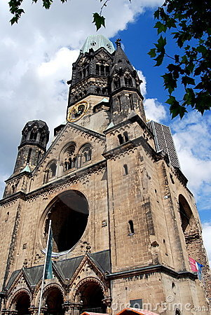 Berlin, Germany: Kaiser Wilhelm Church Editorial Photography