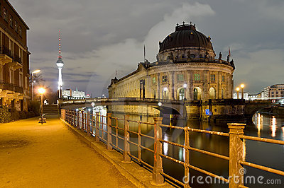 Berlin, germany, at night Editorial Stock Photo