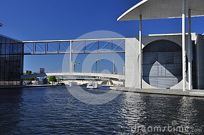 Berlin, Germany. Modern architecture, river Spree