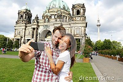 Berlin Germany travel couple selfie self portrait