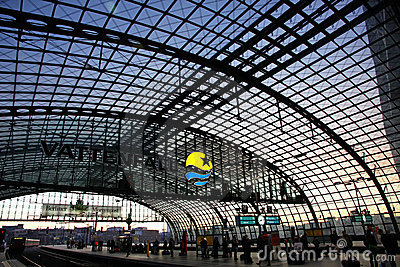 Berlin Hauptbahnhof - railway station in Berlin Editorial Image