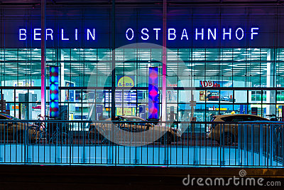 Berlin Ostbahnhof (Berlin East railway station) Editorial Stock Image