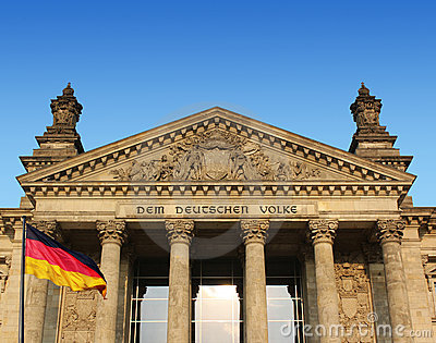 Berlin - reichstag with flag