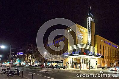 City street scene at night Editorial Photography