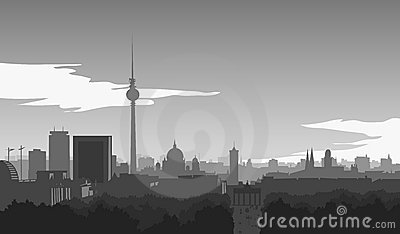 Berlin, Skyline Royalty Free Stock Photos - Image: 20686128