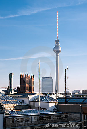 Berlin skyline and Fernsehturm