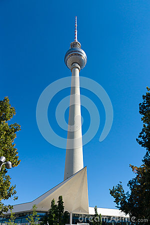 Berlin TV tower on a background of blue sky Editorial Photography