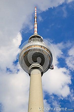 Berlin tv tower landmark