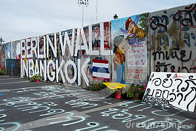Berlin Wall in Bangkok Editorial Photo