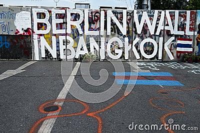 Berlin Wall in Bangkok Editorial Image
