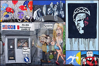 Berlin wall collage Editorial Photo