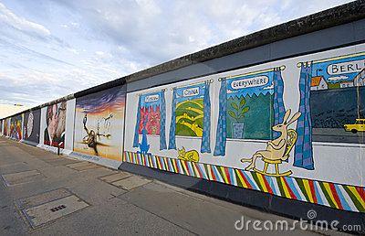 Berlin Wall, East Side Gallery Editorial Photo