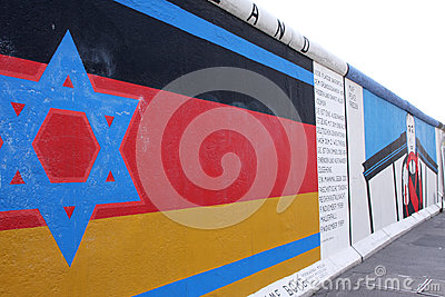 Berlin wall flag Editorial Photo