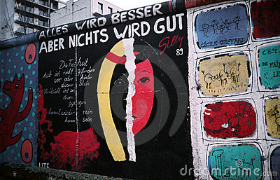 Berlin Wall. Germany Editorial Photo