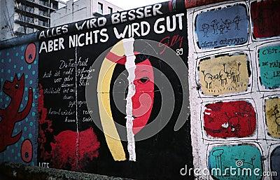 Berlin Wall. Germany Editorial Photo