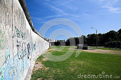 Berlin Wall Memorial with graffiti.