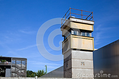 Berlin Wall Memorial, a watchtower in the inner area