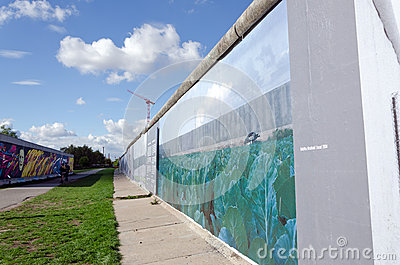 Berlin Wall Remnant Editorial Stock Image