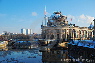 Berlin in Winter. Bode museum