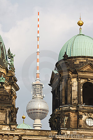 Berliner Dom (Cathedral) and Fernsehturm Berlin