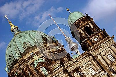 Berliner Dom and Fernsehturm, Berlin