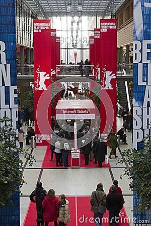 Berliner filmfestspiele arcades Editorial Image
