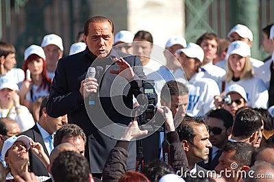 Berlusconi, italian elections Editorial Photo