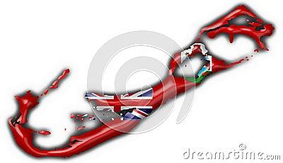 Bermuda button flag map shape