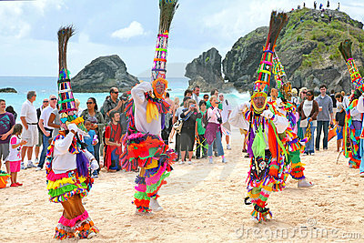 Bermuda Gombey Dancers Editorial Stock Photo