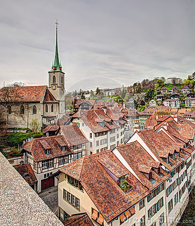 Bern cityscape, HDR Editorial Stock Photo