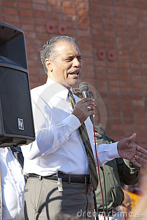Bernard Parks at AIDS Project Los Angeles Rally Editorial Image
