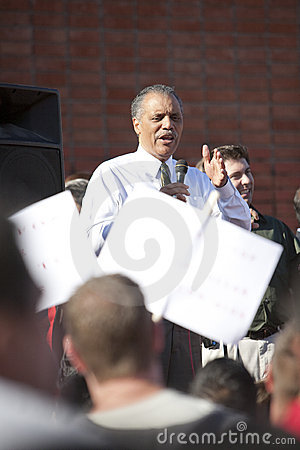 Bernard Parks at APLA Rally Editorial Stock Photo