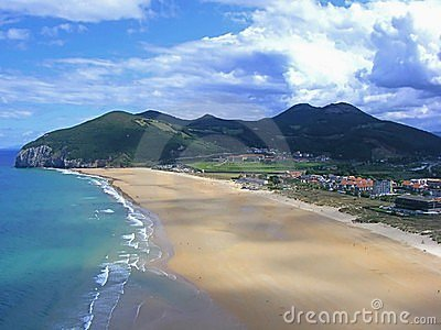 Berria beach in Santoña