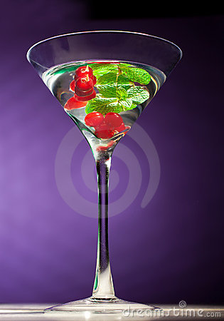 Berries alcohol  coctail