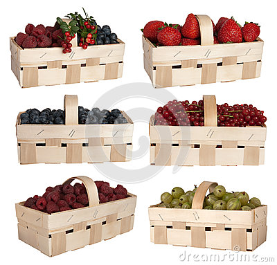 Berries in baskets