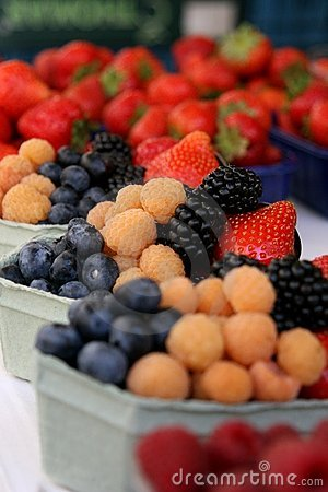 Free Berries In Paper Baskets Stock Image - 11678791