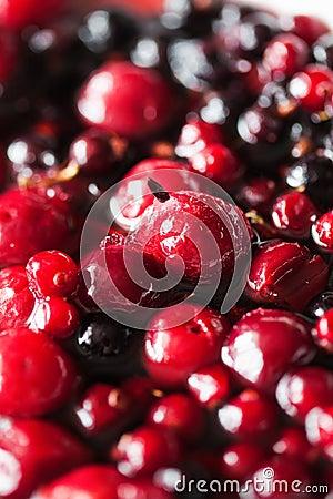 Berries in sugar